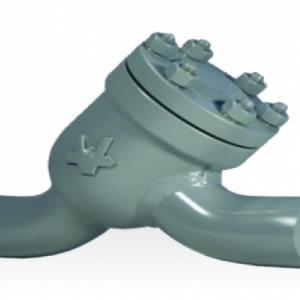 Válvula de Retenção de Passagem Angular com Conexão Ponta para Solda