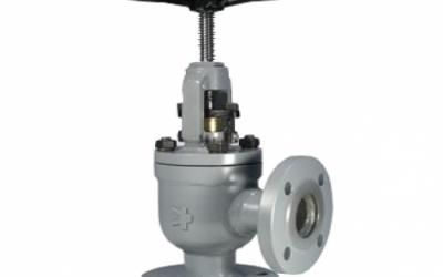 Válvula Tipo Globo Angular de Bloqueio e Retenção com Conexão Flangeada ANSI B16.5 150 lbs