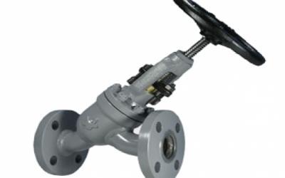Válvula Tipo Globo em Y de Bloqueio e Retenção com Conexão Flangeada ANSI B16.5 300 lbs
