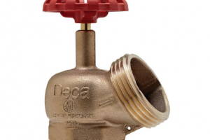 Válvula para hidrante com adaptador acoplado